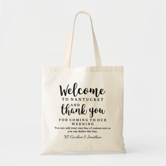 Wedding Welcome And Thank You Hotel Gift Bag Zazzle