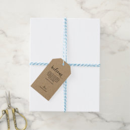 Wedding Welcome Gift Tag - Kraft