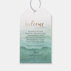 Wedding Welcome Gift Tag - Watercolor