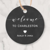 Wedding Welcome Gift Tags, Chalkboard Welcome Favor Tags
