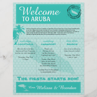 Wedding Welcome Letter for Aruba