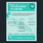 "Wedding Welcome Letter for Aruba Letterhead<br><div class=""desc"">Have fun with your destination themed wedding. Palm Trees, Divi Divi Tree and Map of ARUBA in colors of Colors are MINT GREEN. If the color scheme is not what you wanted please email paula@labellarue.com BEFORE YOU CUSTOMIZE OR PLACE AN ORDER. Please make sure you proof your design before submitting...</div>"
