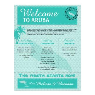 Wedding Welcome Letter for Aruba Letterhead