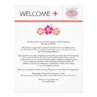Wedding Welcome Letter for Aruba Letterhead Template