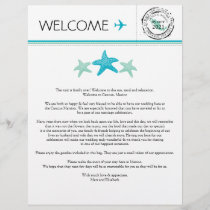 Wedding Welcome Letter for Cancun Mexico