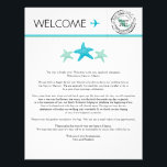 "Wedding Welcome Letter for Cancun Mexico Letterhead<br><div class=""desc"">Have fun with your destination themed wedding in Cancun Mexico. Mexico Map Stamp with Wedding Date and Mint and Aqua Starfish. If the color scheme is not what you wanted please let me know and I&#39;ll recreate that for you. Please email paula@labellarue.com BEFORE ordering if you need design changes. Please...</div>"
