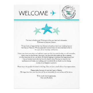 Wedding Welcome Letter for Cancun Mexico Letterhead