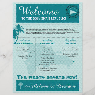 Wedding Welcome Letter for Dominican Republic
