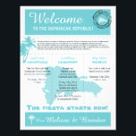 "Wedding Welcome Letter for Dominican Republic Letterhead<br><div class=""desc"">Have fun with your destination themed wedding. Palm Trees and Map of the Dominican Republic in colors of Colors are Light Turquoise and White. If the color scheme is not what you wanted please email paula@labellarue.com BEFORE YOU CUSTOMIZE OR PLACE AN ORDER. Please make sure you proof your design before...</div>"