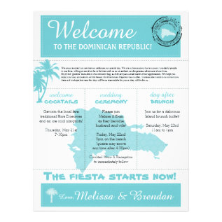 Wedding Welcome Letter For Dominican Republic Letterhead at Zazzle