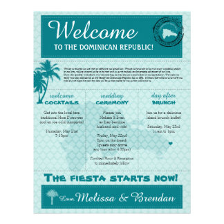 Wedding Welcome Letter for Dominican Republic Letterhead