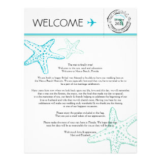 Wedding Welcome Letter For Florida Letterhead at Zazzle