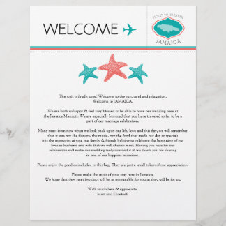 Wedding Welcome Letter for Jamaica