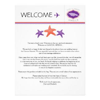 Wedding Welcome Letter for Jamaica Letterhead