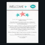 "Wedding Welcome Letter for Jamaica Letterhead<br><div class=""desc"">Have fun with your destination themed wedding. Jamaica Map with Three starfish in Colors TEAL and CORAL. If the color scheme is not what you wanted please email paula@labellarue.com BEFORE ORDERING and I&#39;ll recreate that for you. Please make sure you proof your design before submitting your order. If you have...</div>"