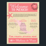 "Wedding Welcome Letter for Mexico Letterhead<br><div class=""desc"">Have fun with your destination themed wedding. Palm Tree, Starfish and Map of Mexico in colors of Colors are Light Pink, Dark Pink, Champagne and White. If the color scheme is not what you wanted please email paula@labellarue.com BEFORE YOU CUSTOMIZE OR PLACE AN ORDER. Please make sure you proof your...</div>"