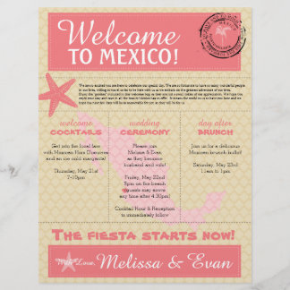 Wedding Welcome Letter for Puerto Vallarta Mexico