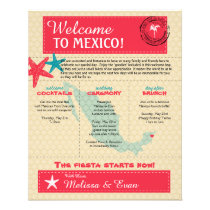 Wedding Welcome Letter for Riviera Maya Mexico Flyer