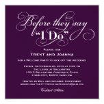 Wedding Welcome Party Invitation | Wedding Vows