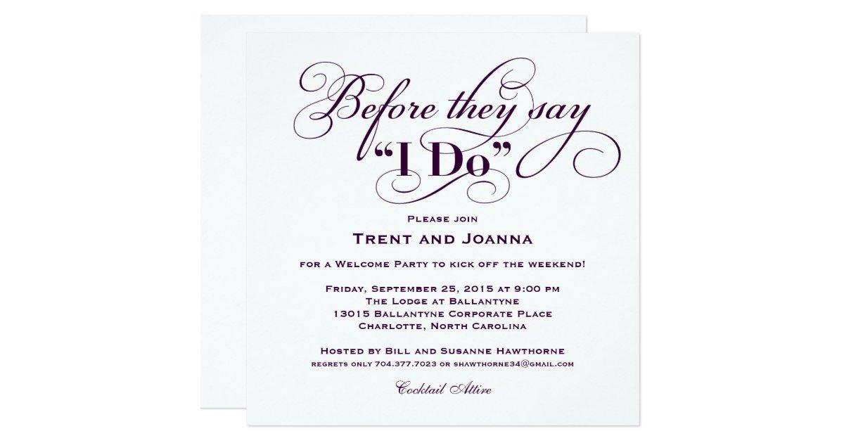Wedding Welcome Party Invitation | Wedding Vows | Zazzle