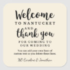 Wedding Welcome Thank You Hotel Custom Favor Bag Square Sticker