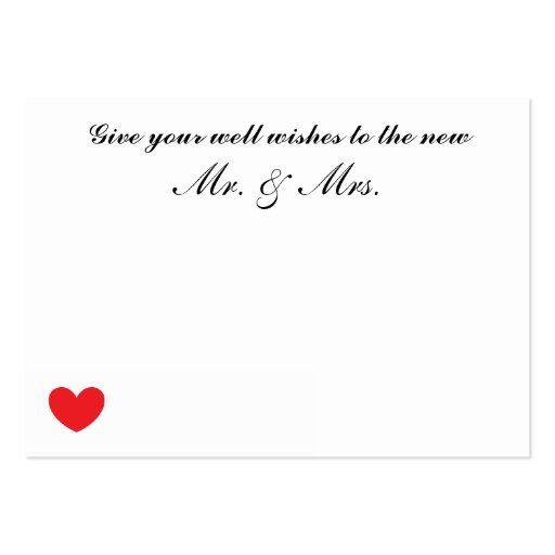 Wedding Well Wishes Cards