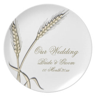 """Wedding wheat dinnerware """"country collection"""" party plate"""