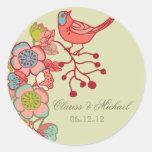 Wedding Whimsy Birds Customized Wedding Stickers