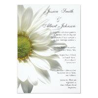 Wedding white big daisy invitation