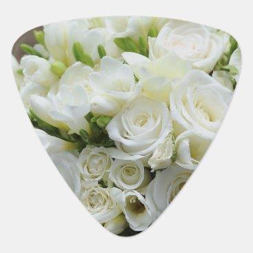 Lawyer Themed Wedding White Blossoms Romantic Destiny Guitar Pick