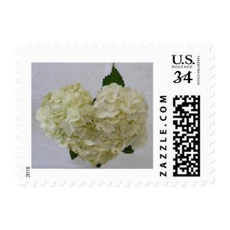 Wedding White Heart Hydrangea Postage