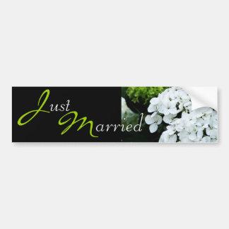 Wedding White Hydrangea Car Bumper Sticker