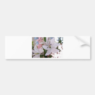 wedding white lily flowers floral flora love vines car bumper sticker