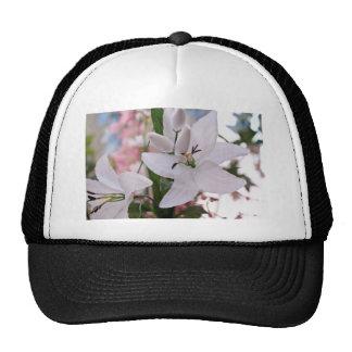 wedding white lily flowers floral flora love vines trucker hat