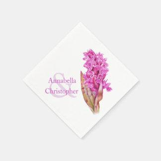 Wedding wild orchid watercolor paper napkin