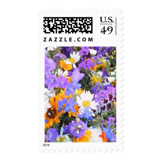 Wedding Wildflowers Postage