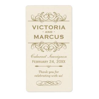 Wedding Wine Bottle Monogram Favor Labels