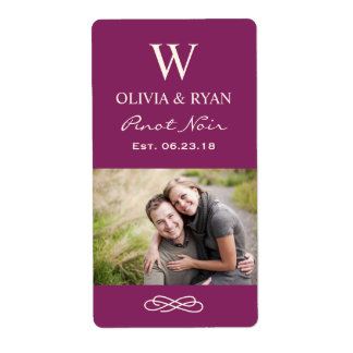 Wedding Wine   Personalized Photo Favor Stickers Shipping Label
