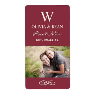 Wedding Wine | Personalized Photo Favor Stickers Shipping Label