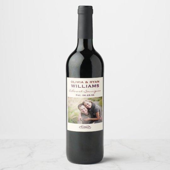 Wedding Wine Personalized Photo Favor Wine Label Zazzle