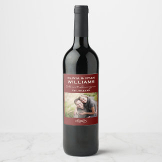 Wedding Wine | Personalized Photo Favor Wine Label