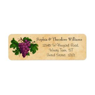 Wedding Wine | Tasting Party Vintage Purple Grapes Label