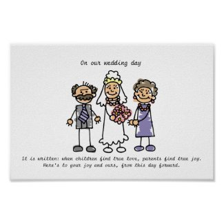 Wedding Wish for Bride's Parents Poster