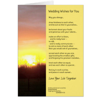 Wedding Wishes For You Card
