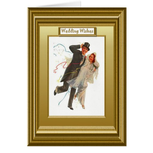 Wedding wishes - Happy couple Greeting Card