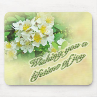 Wedding Wishes Multiflora Roses Mouse Pad