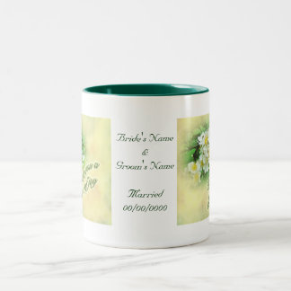 Wedding Wishes Multiflora Roses Two-Tone Coffee Mug