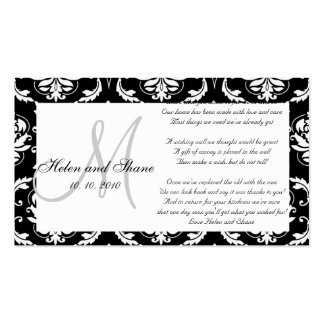 Wedding Wishing Well and Hotel Information Card Business Card