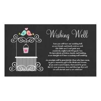 Wedding Wishing Well Cute Love Birds Business Card