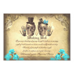 wedding wishing well skull vintage cards announcement